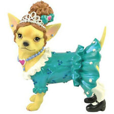 New AYE CHIHUAHUA Dog Figure Figurine TIARA DRESS Puppy Statue PEARL NECKLACE