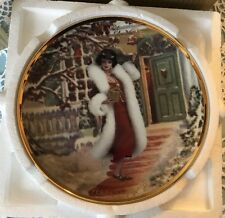 Hallmark Barbie Doll Christmas Holiday Voyage Plate MIB with COA 6361/24500
