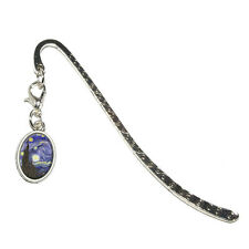 Starry Night - Vincent Van Gogh - Metal Bookmark Page Marker with Oval Charm