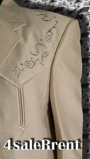 """NEW WESTERN IVORY SUIT SIZE L, CHEST 44""""-47"""", EMBROIDERED DESIGN   #124"""