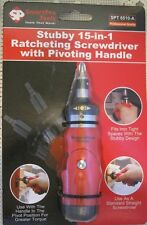 Improved SMARTPRO Stubby 15-N-1 Ratcheting Screwdriver_Pivoting Handle SPT6