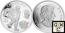 2011 'Wayne and Walter Gretzky' Proof $25 Silver Coin 1oz .9999 Fine (12894)