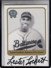 """2001  FLEER GREATS OF THE GAME LESTER LOCKETT """"DIED OCT 4 2005"""" AUTOGRAPH AUTO"""