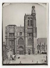 PHOTO Vintage vers 1910 - SENS FRANCE YONNE - Cathédrale Parvis Vitraux Portail