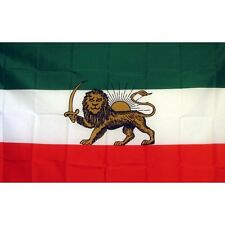 Iranian Shaw with Lion Flag Banner Sign 3' x 5' Foot Polyester Grommets