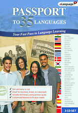 Passport to 35 Languages Educational CD by eLanguage * New Ship Free