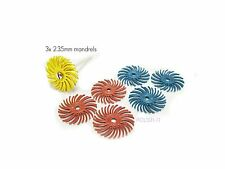 3M Scotchbrite Radial Bristle Discs 25mm Starter Set-Metal Polishing/Finishing