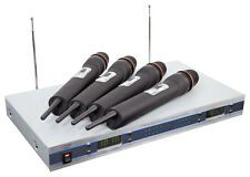 NEW PylePro PDWM5500 4 Mic VHF Wireless Microphone System