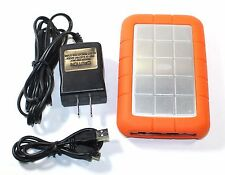 LaCie Rugged All-Terrain 500GB Portable External Hard Drive - VERY GOOD