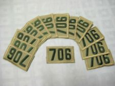 BSA Troop Unit Lot 12 Numerals Emblems # 706 Tan Green Pack New Style NWT