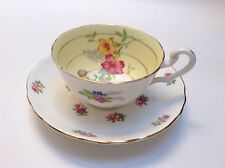 Victoria CE & Crown Staffordshire Fine Bone China Tea Cup & Saucer Lovely Floral
