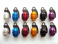 Alloy Grenade Valve Caps Dust Covers Cycle Bike Bicycle MTB BMX Car Tyre Valve
