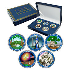 2013 Colorized US Mint National Park Quarters Set in Gift Box