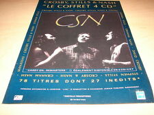 CROSBY - STILLS - NASH - CARRY ON!!!FRENCH PRESS ADVERT
