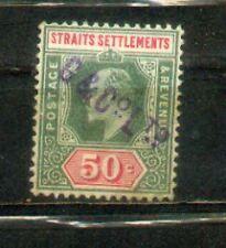 1902 Malaya Malaysia Straits Settlements KEVII 50c CV  Rm 90