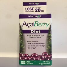 Natrol AcaiBerry Diet 60 Tablets  Acai & Green Tea Superfoods Exp 5/31/17