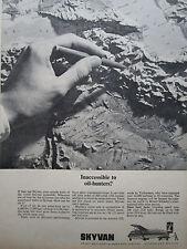 11/1966 PUB SHORTS SKYVAN ANSETT AUSTRALIAN AIRLINES CAUCASE MAP ORIGINAL AD