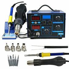 Soldering Iron Station Hot Air Gun Rework Adjustable Workstation Welder Plastic
