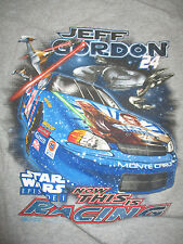 """JEFF GORDON No. 24 STAR WARS Episode 1 """"NOW THIS IS RACING"""" (MED) T-Shirt"""
