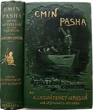 1890 1stED EMIN PASHA REBELLION AT THE EQUATOR HENRY STANLEY ILLUSTRATED MAPS VG