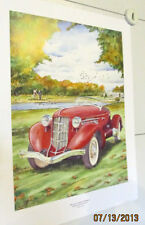 2001 CONCOURS D'ELEGANCE AUBURN CORD LIMITED EDITION AUTO SHOW POSTER W/ COL!