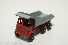LESNEY MATCHBOX 18 TIPPER KIPPER TRUCK RED GREY EXCELLENT CONDITION RARE SELTEN!