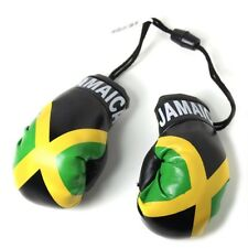 NEW***MINI JAMAICA FLAG BOXING GLOVES CAR MIRROR DECORATION ORNAMENT JAMAICAN