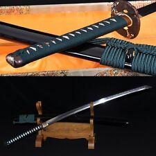 Clay Tempered Folded Steel FullTang Blade Hawk TSUBA JAPAN SAMURAI SWORD KATANA