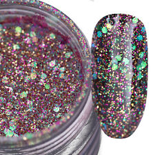 1 Box 10g Nail Glitter Paillette Sequins Colorful Sparkly Manicure Decor Tips #1