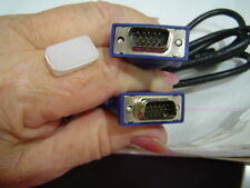 SIX Ft , (6 ft ) VGA, DB15  cable male to male. New in packing.