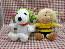 "Peanuts Gang Charlie Brown & Snoopy 6.5""Plush toy gift Set Of 2"