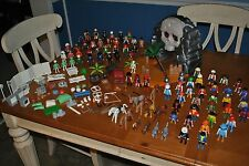 HUGE LOOSE LOT BOX PLAYMOBIL FIGURES OVER 100 PIECES - DOCTORS, PIRATES & MORE