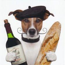 Klappkarte de luxe: Jack Russel - Terrier Chico als Franzose