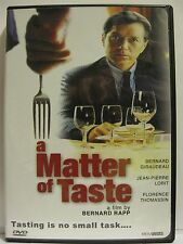 A Matter of Taste (DVD, 2002) French with English subtitles