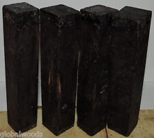 4 African Blackwood 1.5x1.5x8 aka Mpingo Wood Club Wood For Musical Instruments