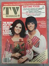TV MIRROR OCTOBER 1976 DONNIE MARIE OSMOND  SANDFORD SON JOHNNY CASH RAY CLARK
