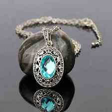Party Jewelry Silver Plated 4 Colors Cubic Zircon Women's Necklaces  44+7cm