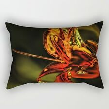 Neon Lily (#3) ~ 14x20 RECTANGLE OBLONG THROW PILLOW ~ Psychedelic Nature Design