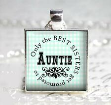 Auntie Gift Pendant Charm Key Chain Only Best Sisters Niece Nephew New Aunt Gift