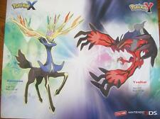 """Pokemon X and Y  (2 sided) Gamestop Promo Ad Poster 28"""" x 22""""~ FREE Shipping!"""