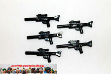 Lego® Star Wars 5X Black Minifig Gewehr, Weapon Gun, Blaster long, 57899