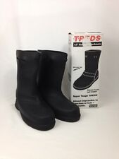 "TREDS 14852 12"" Rubber Overboots Large (11-12) - Pull On Stretch Rubber Black"