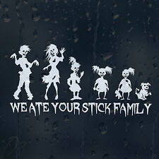 Funny Zombie Family Dad Mom Sisters Dog Car Window Bumper Decal Vinyl Sticker