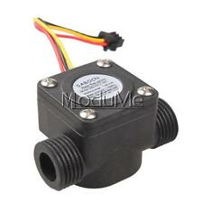 Black G1/2 Water Flow Sensor Fluid Flowmeter Switch Counter 1-30L/min Meter MO