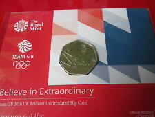 Team GB 2016 Rio Olympics UK 50p Brilliant Uncirculated Coin presentation pack