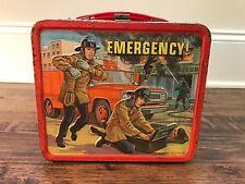 "1973 Vintage (Aladdin) ""EMERGENCY!"" (TV Show) Metal Lunchbox, RARE!"