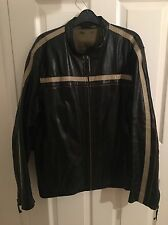 Men's River Island Black Leather Jacket