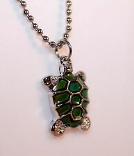 Alloy Color Changing Mood Turtle Pendant Necklace w/Free Jewelry Box/Shipping
