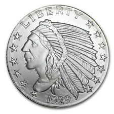 1/2~OZ ~ PURE .999 SILVER ROUND ~ INDIAN HEAD ~AWESOME ~ $9.99 ~AUCTION ~NO RES!