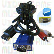 NEW VGA CABLE +Bonus Converter to Sega Dreamcast High Definition Monitor Adapter